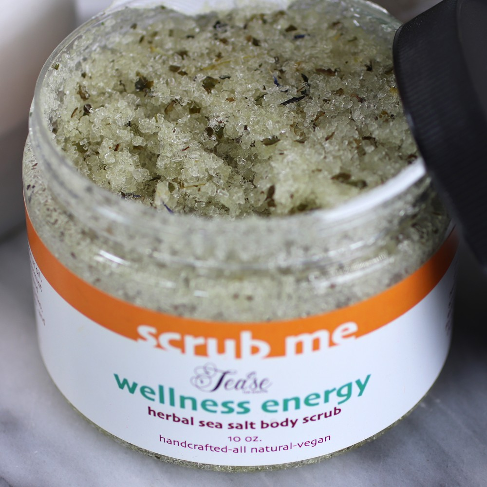 Scrub Me Wellness Energy Sea Salt Body Scrub Review - The Best Cruelty Free Hand Creams and Scrubs for Dry Winter Skin by LA cruelty free beauty blogger My Beauty Bunny
