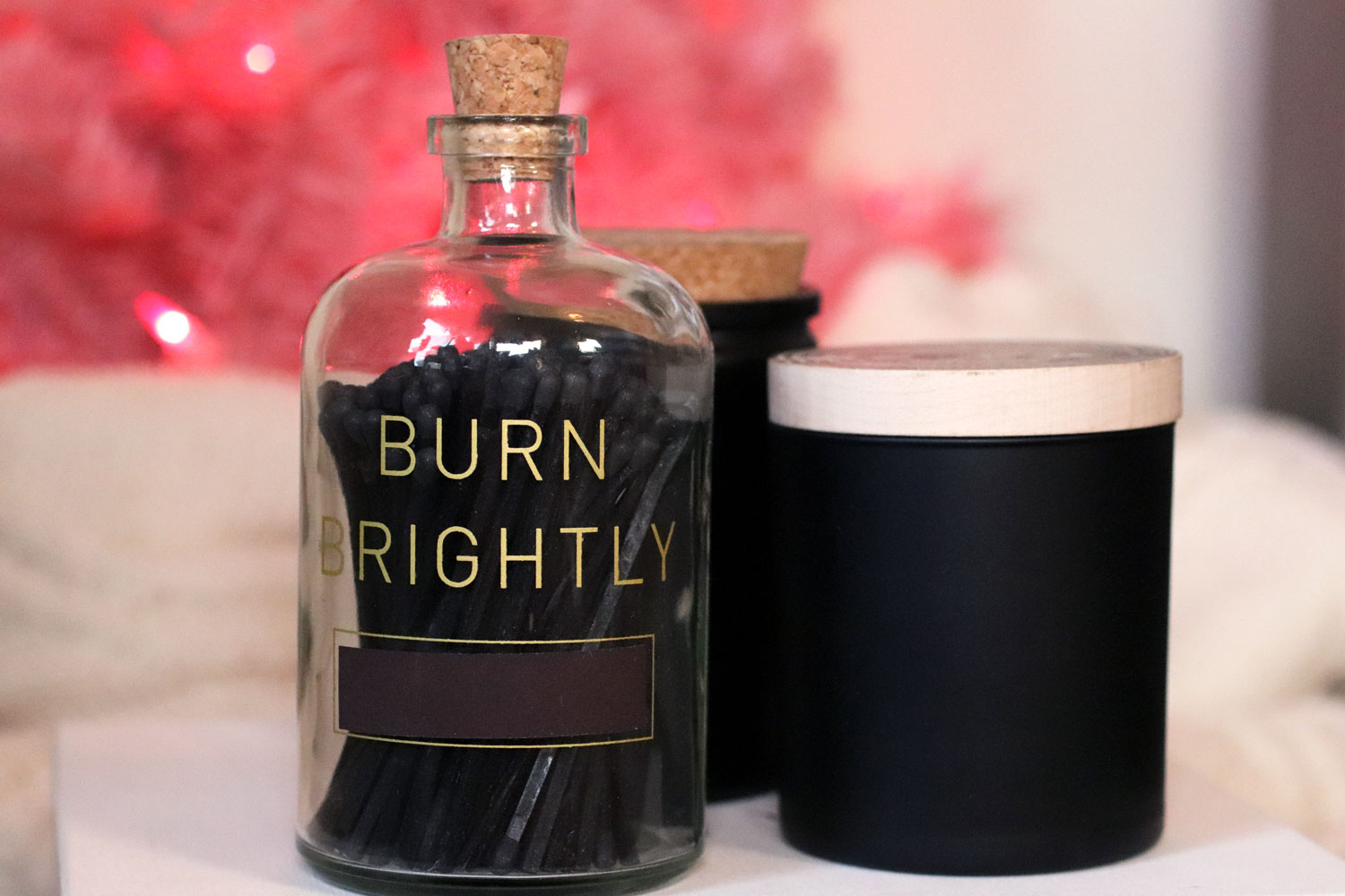 Woman Owned Holiday Gift Guide 2019 - Skeem Design Burn Brightly Matches and Candles