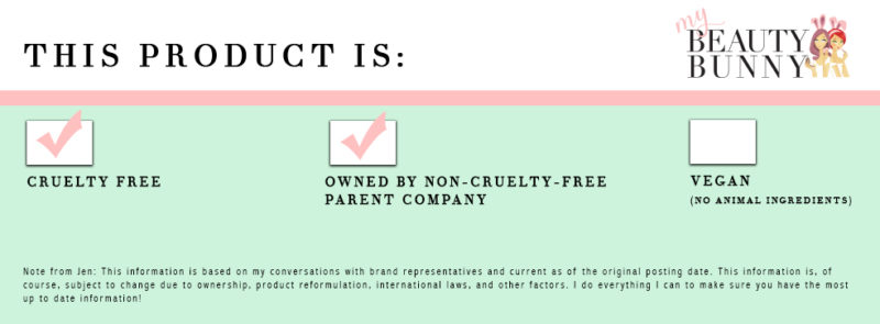 Cruelty free but owned by a non-cruelty-free parent company