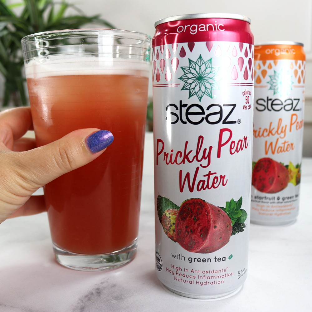 Steaz Prickly Pear Water Review by Popular Health Blogger My Beauty Bunny