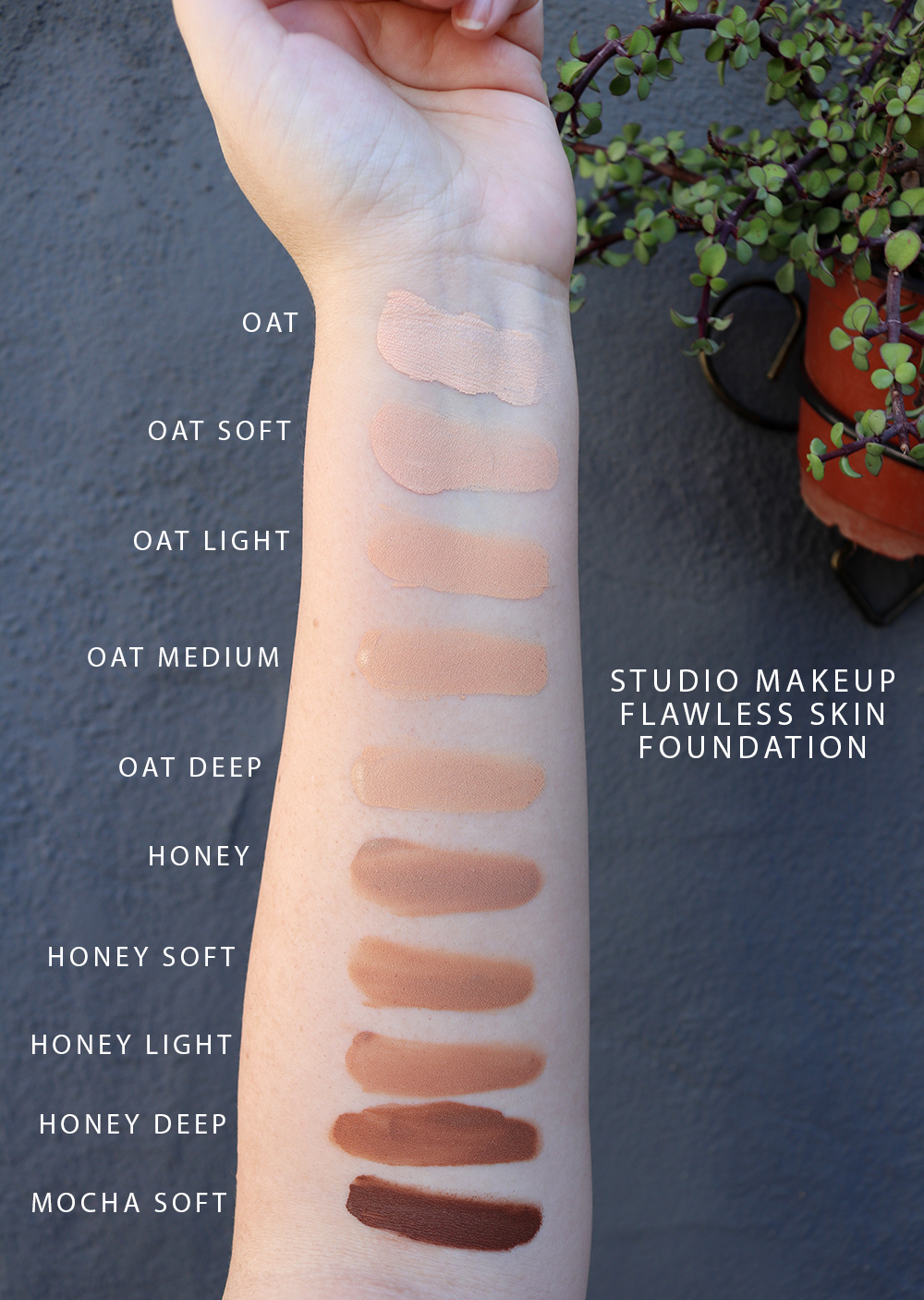 Studio Makeup Flawless Skin Foundation Swatches