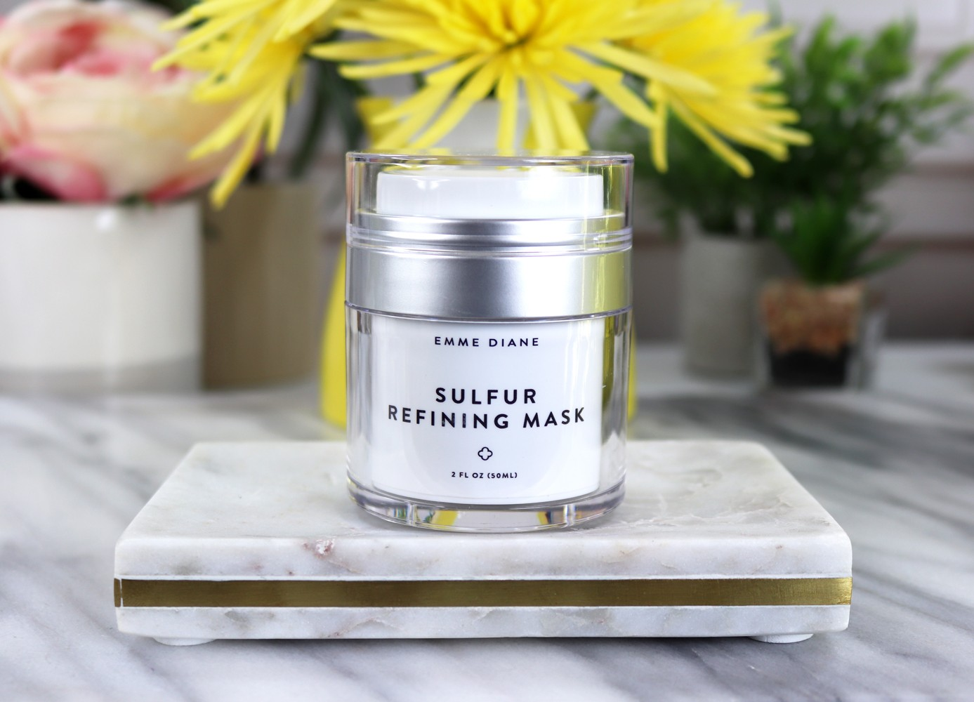 Emme Diane Sulfur Refining Mask by popular Los Angeles cruelty free beauty blogger My Beauty Bunny