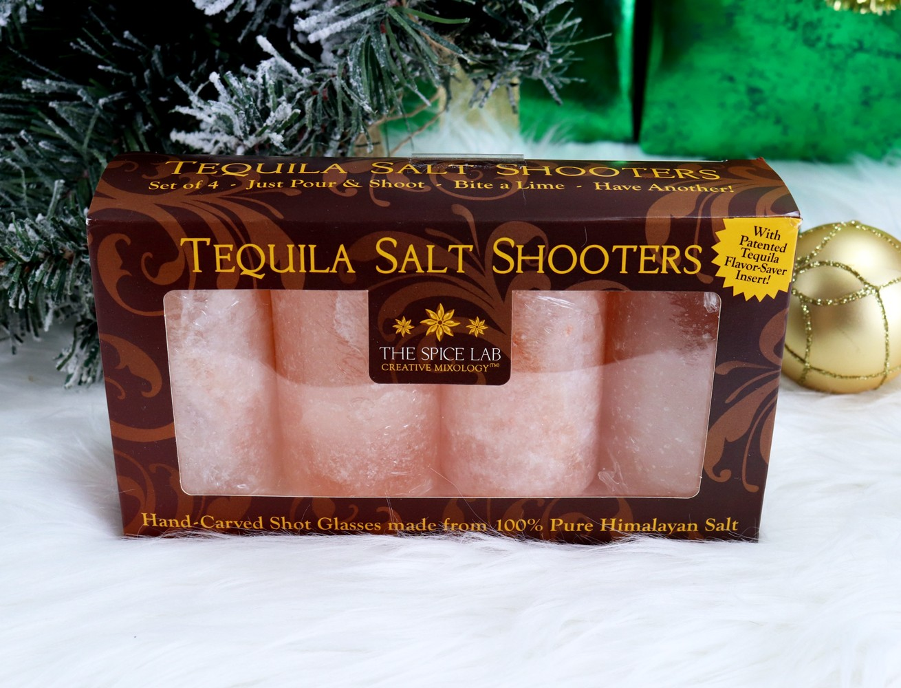 Holiday Gift Idea - The Spice Lab Himalayan Pink Salt Tequila Shot Glasses