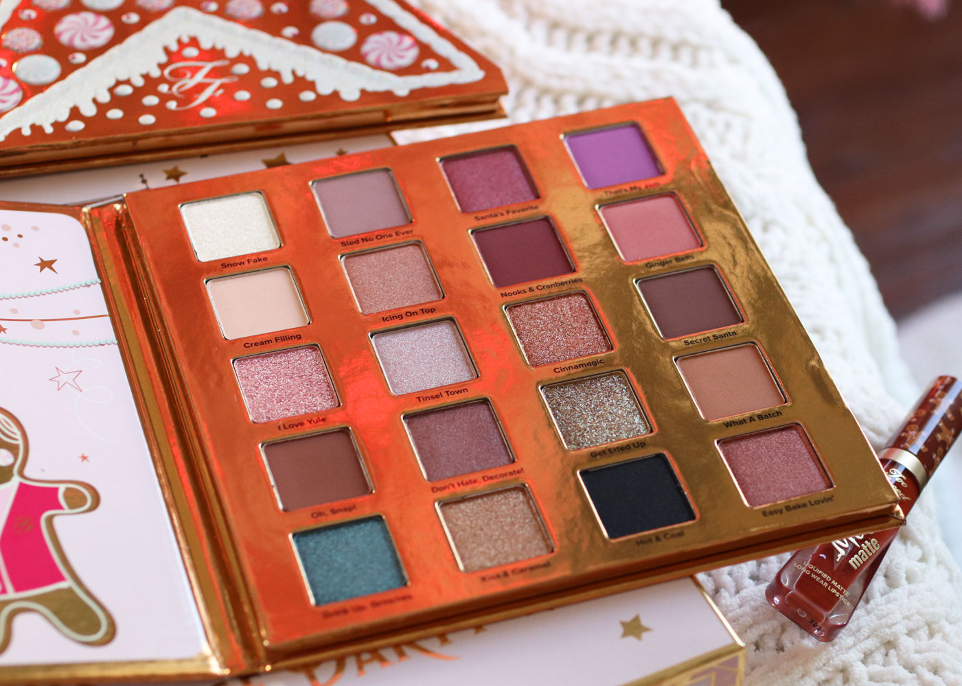 Too Faced Christmas Cookie House Party eyeshadow palette