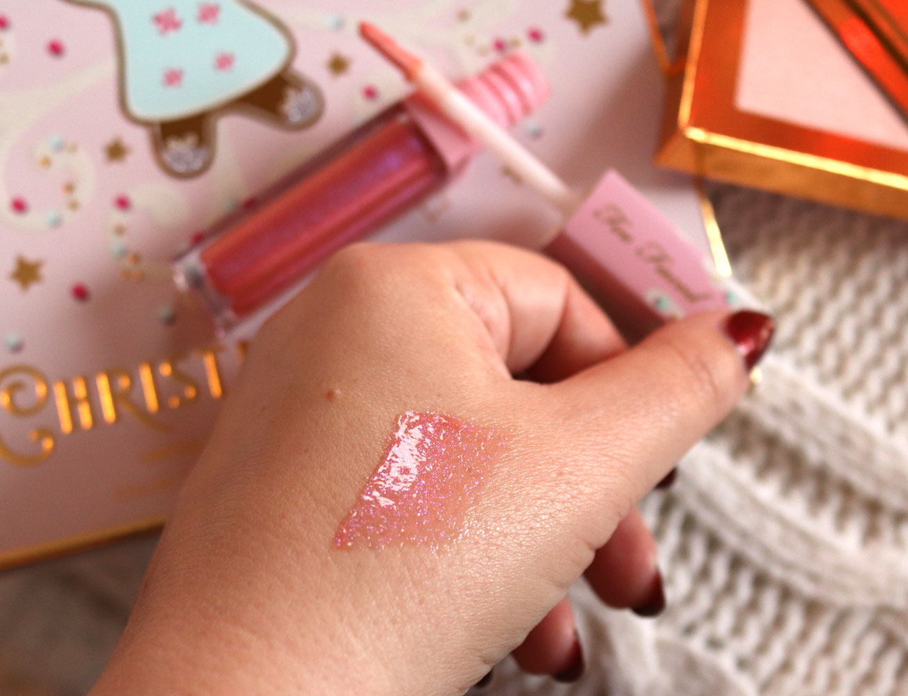 Too Faced Ginger Snap lipgloss swatch
