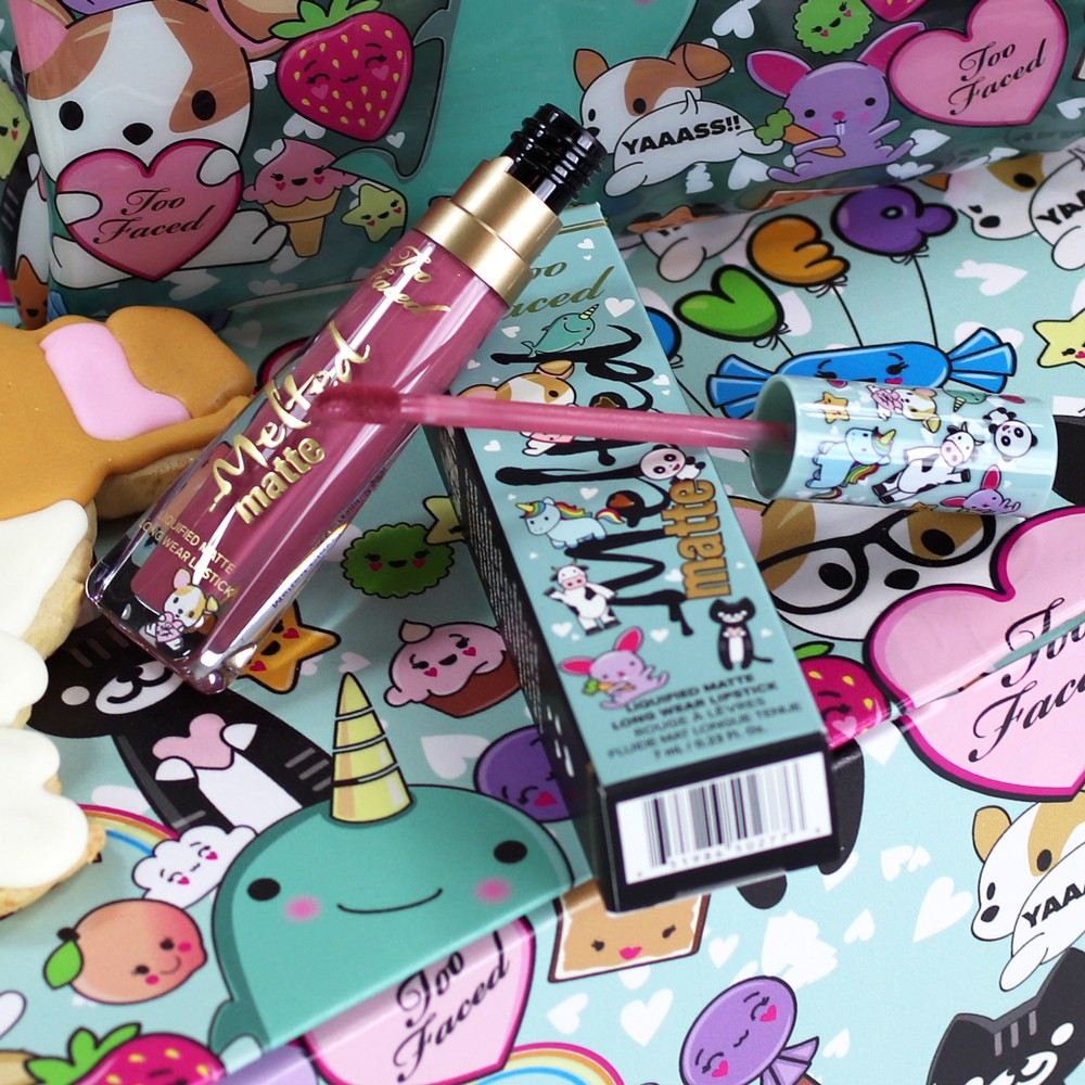 Too Faced Melted Clover Lipstick - Too Faced Melted Clover Liquid Matte Lipstick review by popular Los Angeles cruelty free beauty blogger My Beauty Bunny