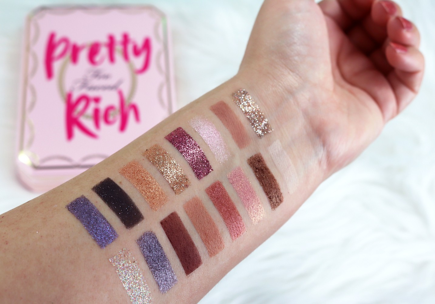 Too Faced Pretty Rich Palette Swatches and Review