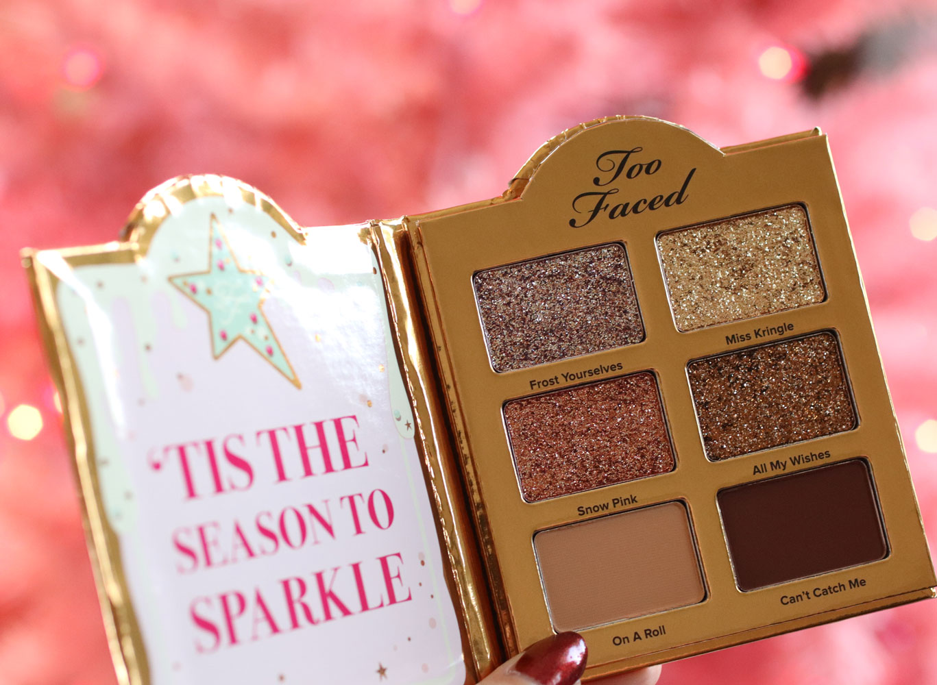 Too Faced Christmas Cookie House Party glitter eyeshadow palette
