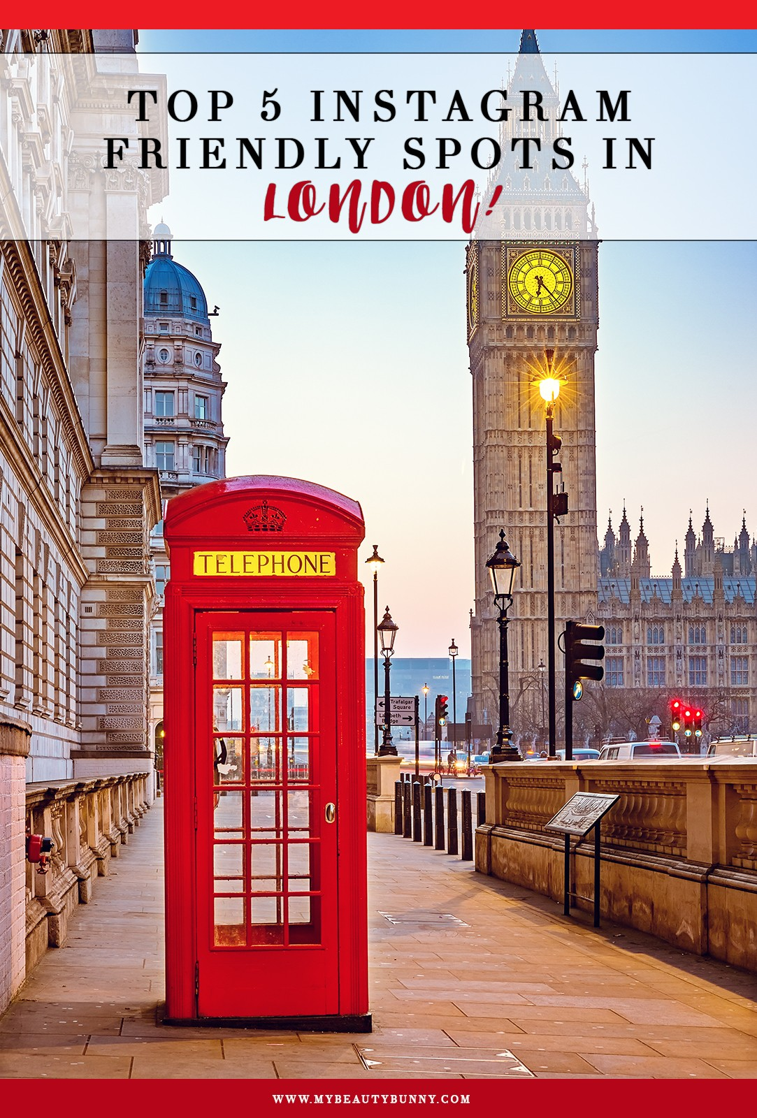 Top 5 Instagram Spots In London | Spots to go on my honeymoon featured by popular Los Angeles travel blogger My Beauty Bunny