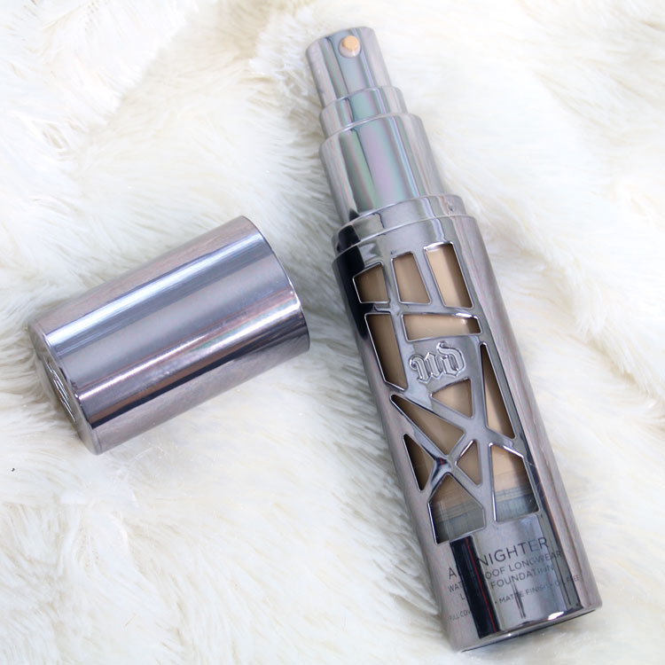 Urban Decay All Nighter Foundation Review by popular LA cruelty free beauty blogger My Beauty Bunny
