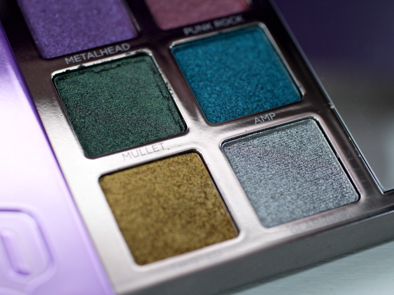 Urban Decay Heavy Metals Eyeshadow Palette - Mullet, Amp, Twisted, Glamrock - Urban Decay Heavy Metals Palette review by popular Los Angeles cruelty free beauty blogger My Beauty Bunny