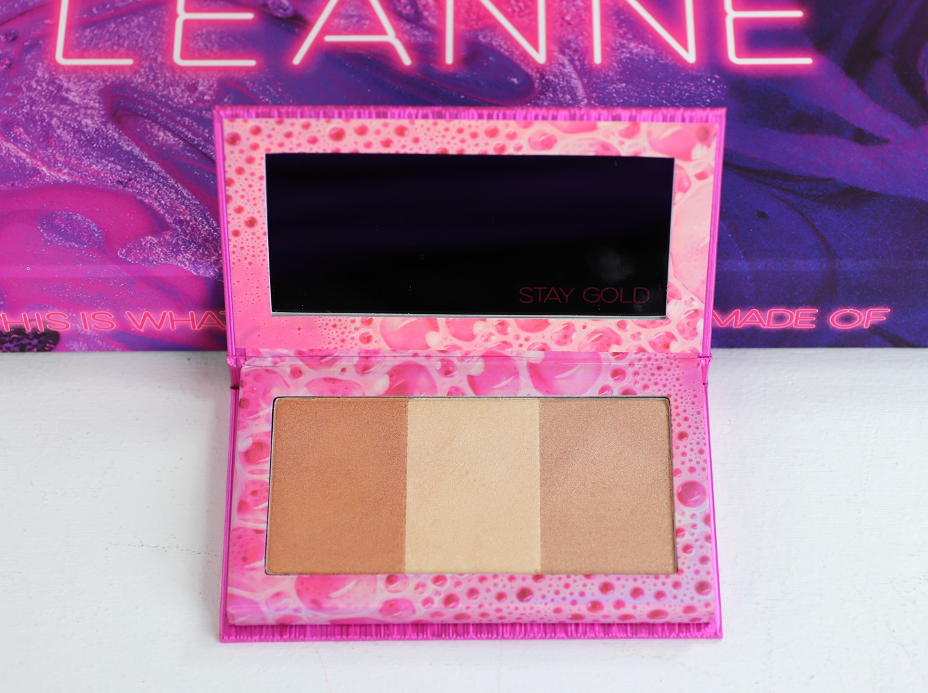 Urban Decay x Kristen Leanne Beauty Beam Highlighter Palette Review and Swatches by popular Los Angeles beauty blogger My Beauty Bunny