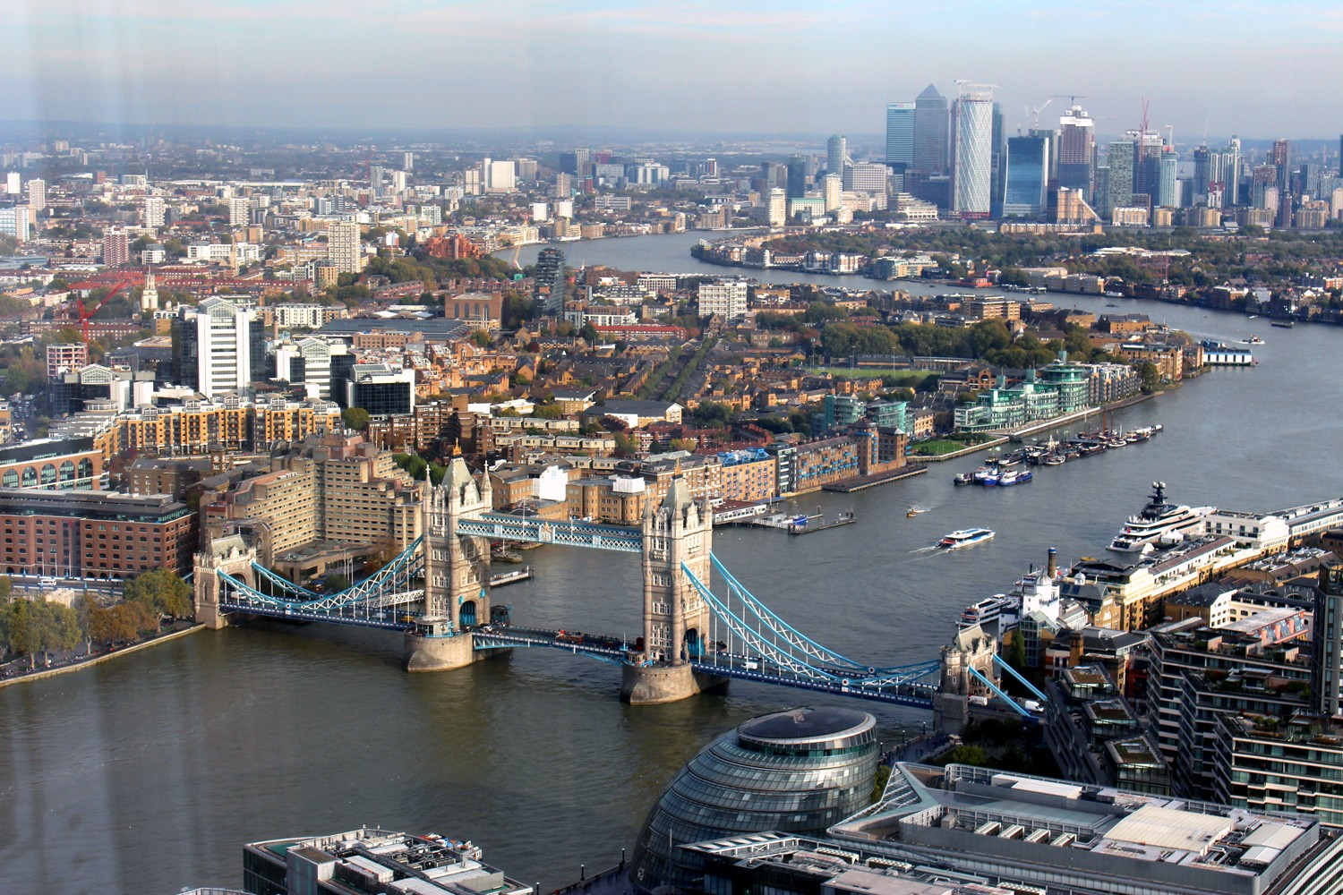 View from Shangri La at the Shard London