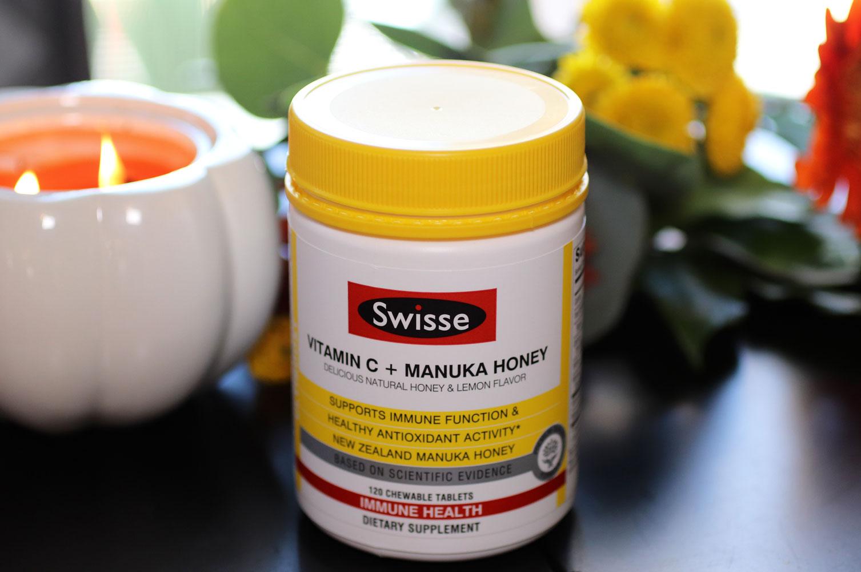 Swisse Vitamin C and Manuka Honey Chewable Immunity and Beauty Supplement
