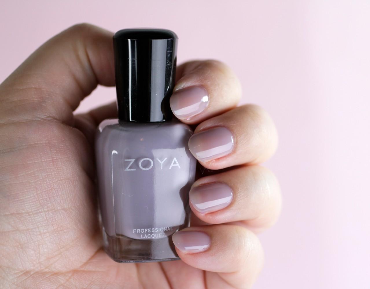 Zoya Pastel Gray Jelly Polish - Vickie - Zoya Nail Polish Review: Kisses Pastel Jellies Collection by LA cruelty free beauty blogger My Beauty Bunny
