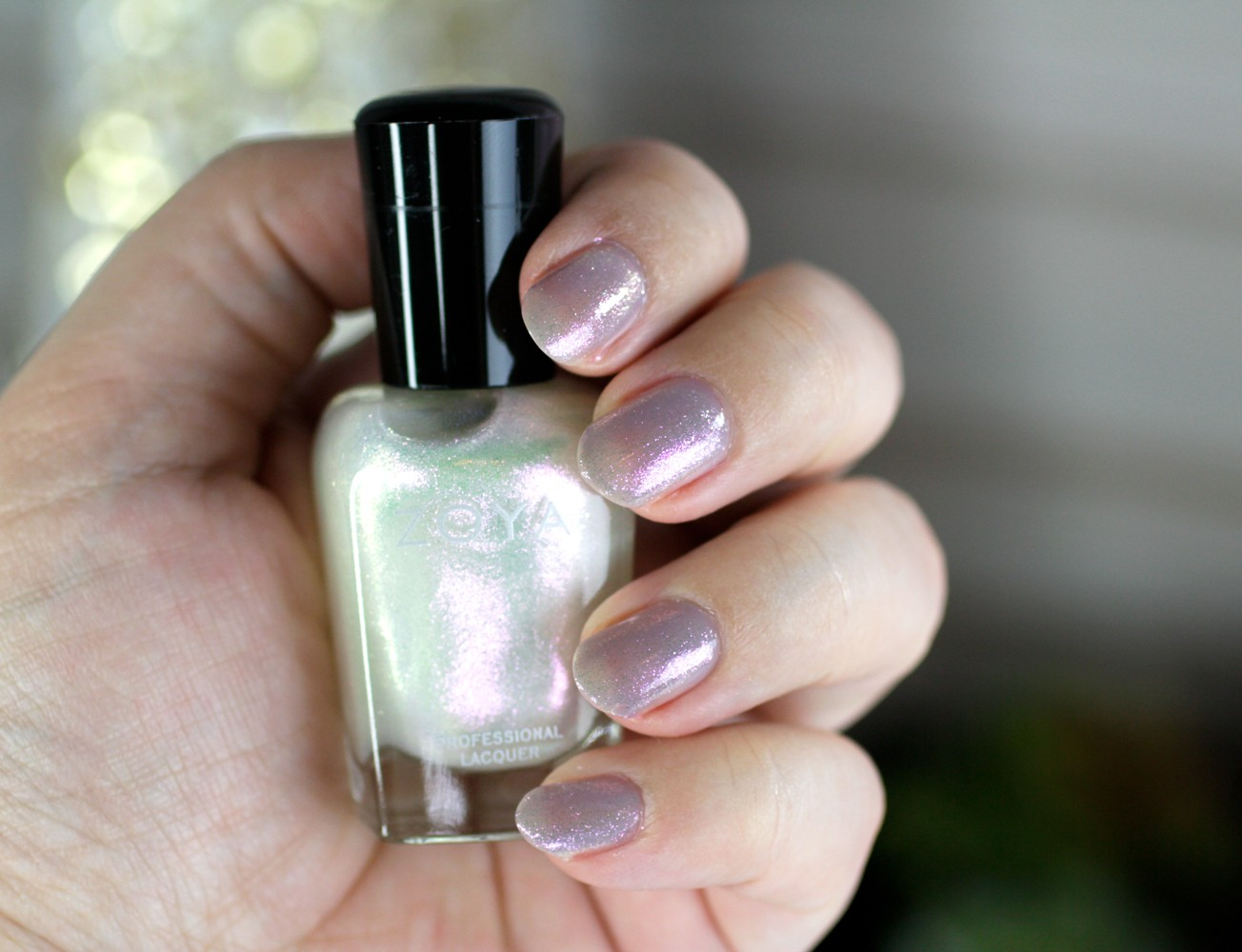 Zoya Pastel Gray Jelly Polish - Vickie Topped with Leia - Zoya Nail Polish Review: Kisses Pastel Jellies Collection by LA cruelty free beauty blogger My Beauty Bunny