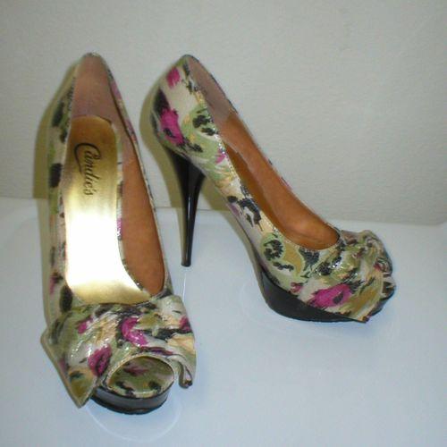 floral Candies peep toe pumps