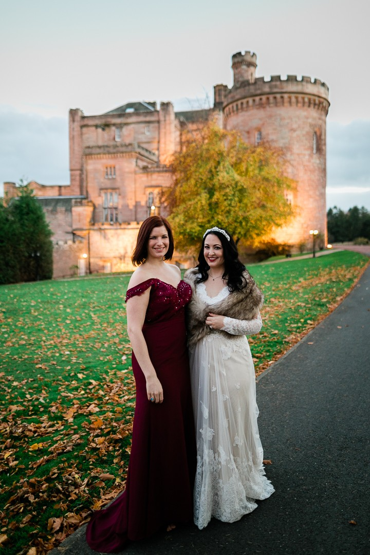Bridesmaid Dress by JJ's House; Wedding Dress by Coco Melody - Jen Mathews My Beauty Bunny Wedding in Scotland- Hair and Makeup by AMM Team - Photography by Lauren McGlynn
