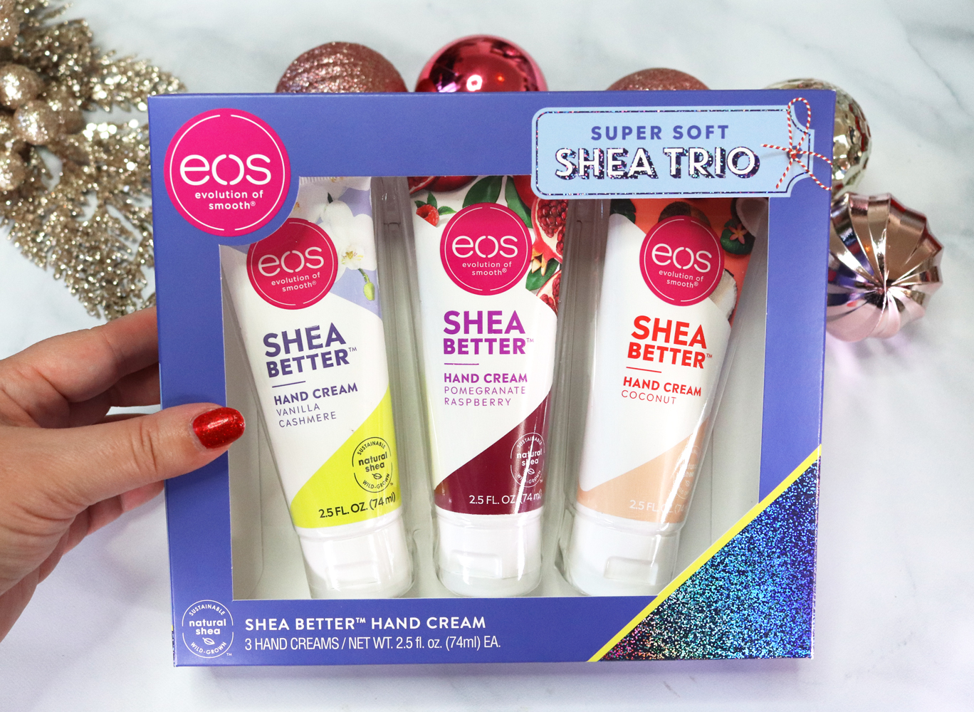 Cruelty Free Holiday Gift Guide 2020 - eos shea trio holiday gift set 2020