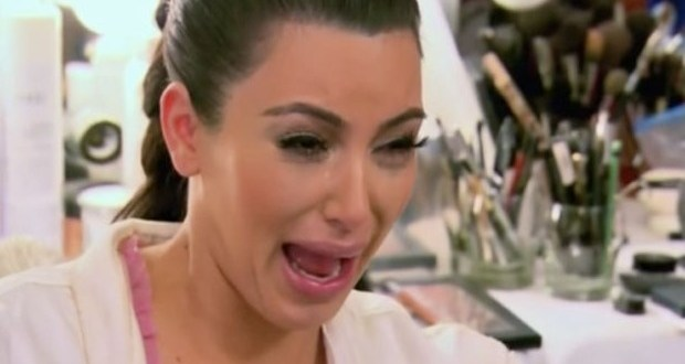 kim kardashian crying