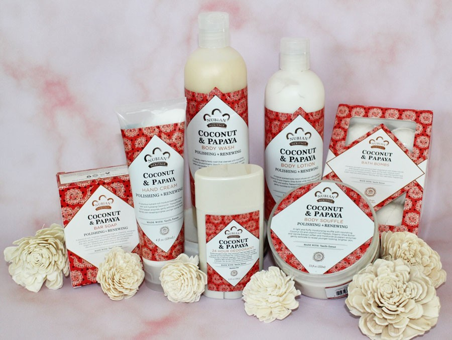 Nubian Heritage Coconut Papaya Collection review by my beauty bunny