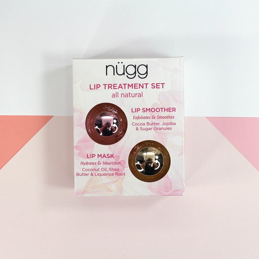 nugg cruelty free lip mask and lip scrub gift set