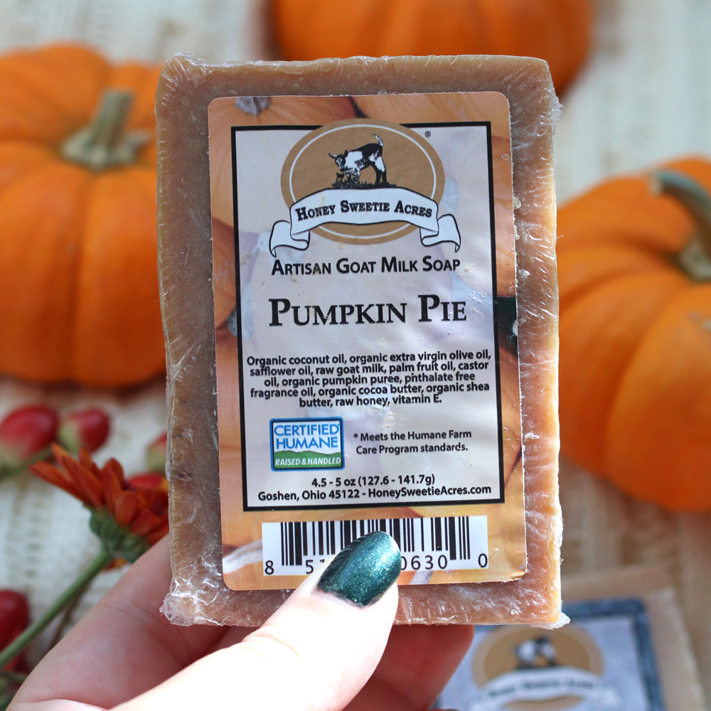 Honey Sweetie Acres pumpkin spice goat milk soap review and giveaway