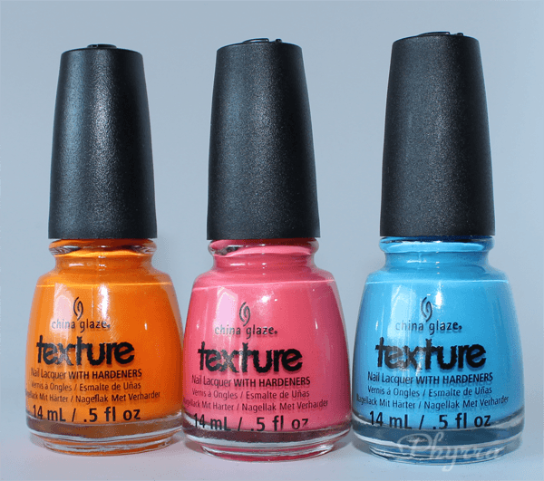 China Glaze Textured Collection Swatches Review