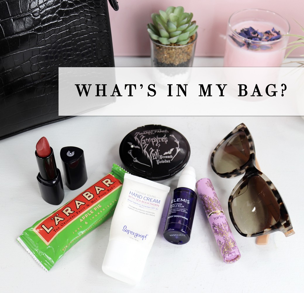 Which Cruelty Free Beauty Products are in my Purse - Which Must Have Beauty Products are in my Purse Right Now by LA cruelty free beauty blogger My Beauty Bunny