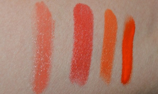 Nyx red lipstick swatches