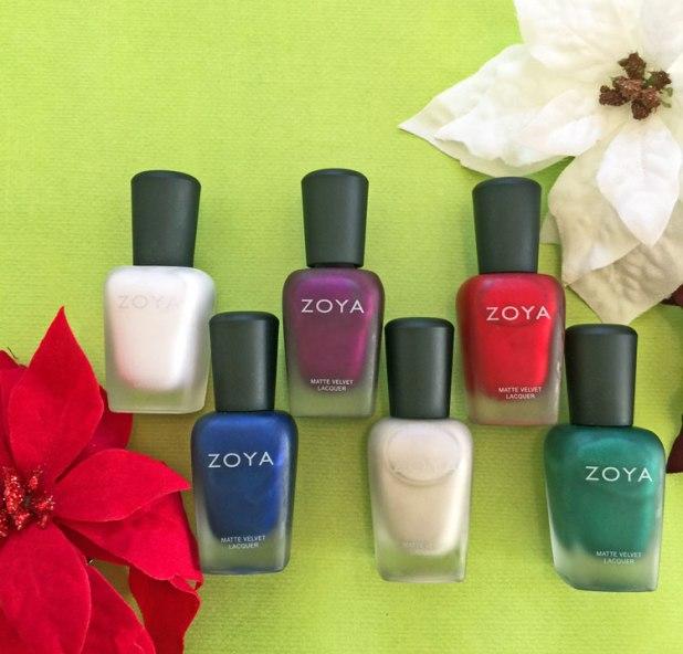zoya matte velvet holiday 2015 collection by my beauty bunny