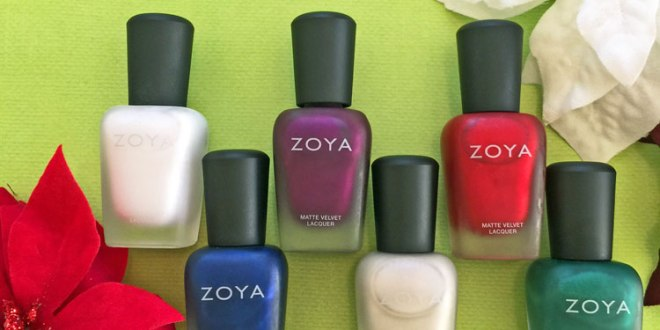 zoya matte velvet holiday 2015 collection by my beauty bunny