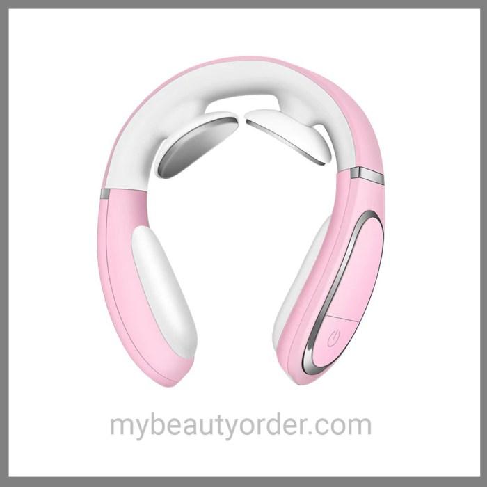Smart Neck Massager ultrasonic pink