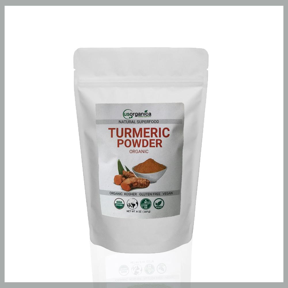 Organic natural turmeric powder supplement how to take
