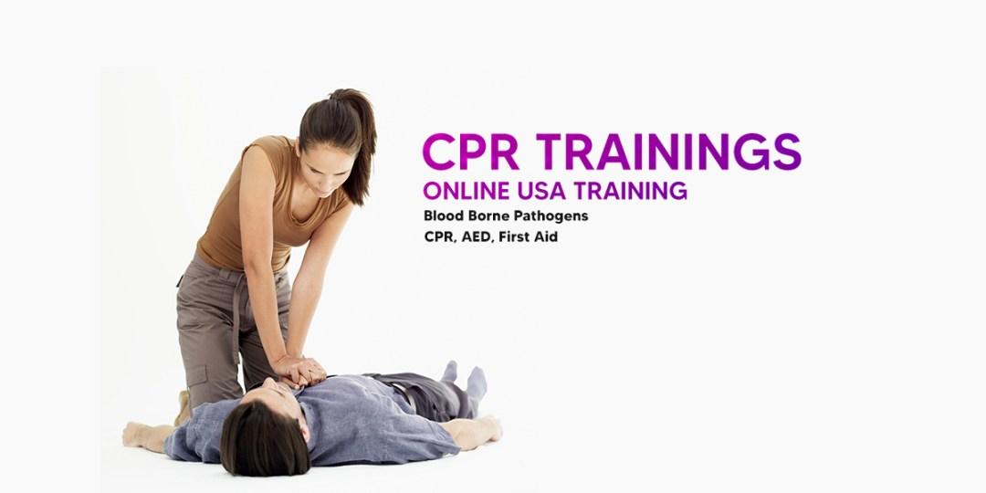 best online CPR and bloodborn pathogen usa test trainings