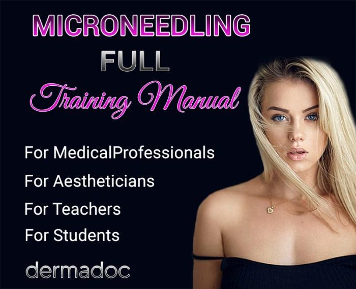 best professional microneedling training manual book.