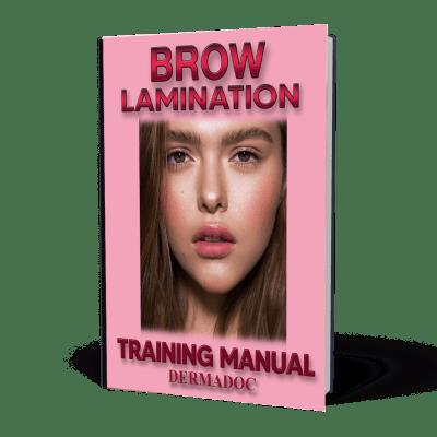 Brow lamination training manual e book course in usa and canada