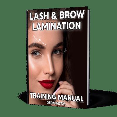 Lash and Brow Lamination training manual usa and canada