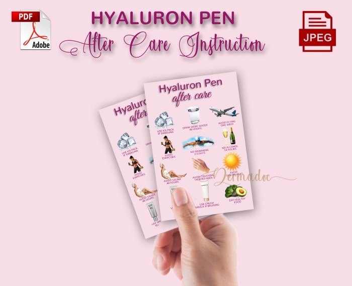 Lip Filler aftercare card
