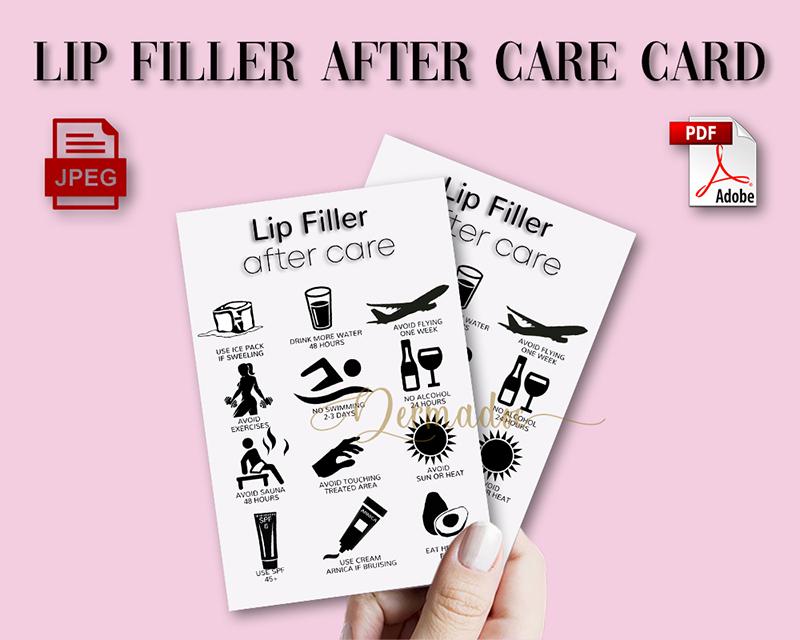 Best USA Lip Filler AfterCare form card