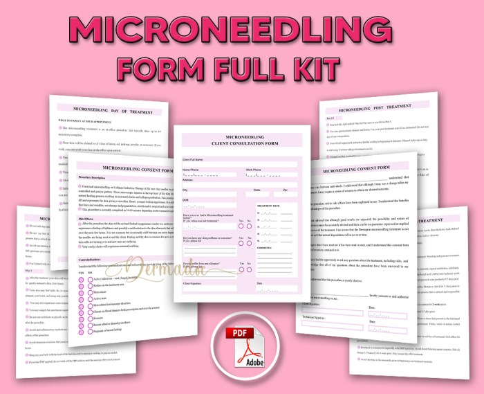 Microneedling Form Full Kit PDF, download,Salon Forms