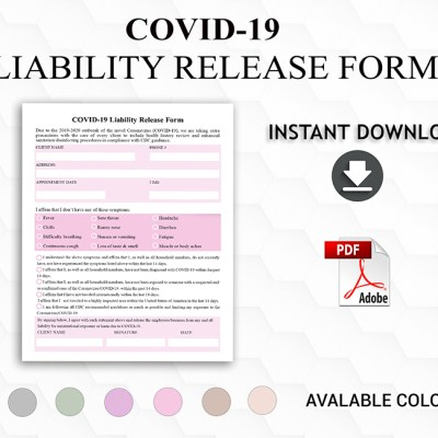 COVID-19 Waiver Liability Release Form. Client form