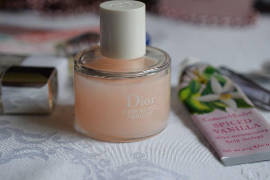 Manucure ongles 3 Dior dissolvant