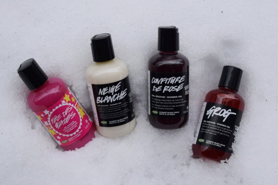 Lush shower gels Christmas 2014