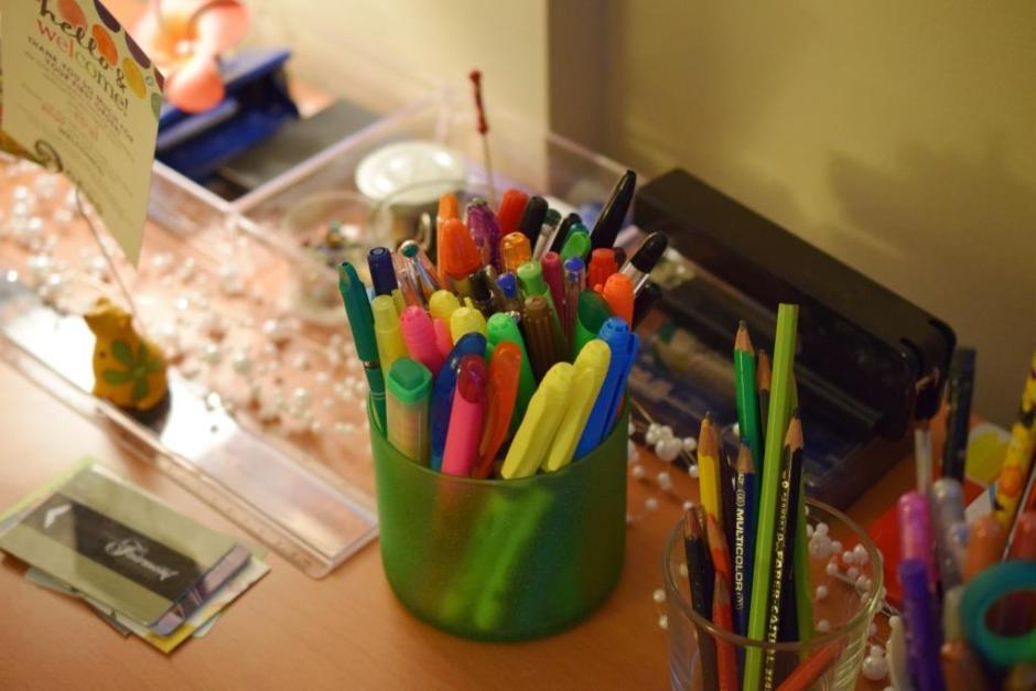 Des crayons de toutes les couleurs!