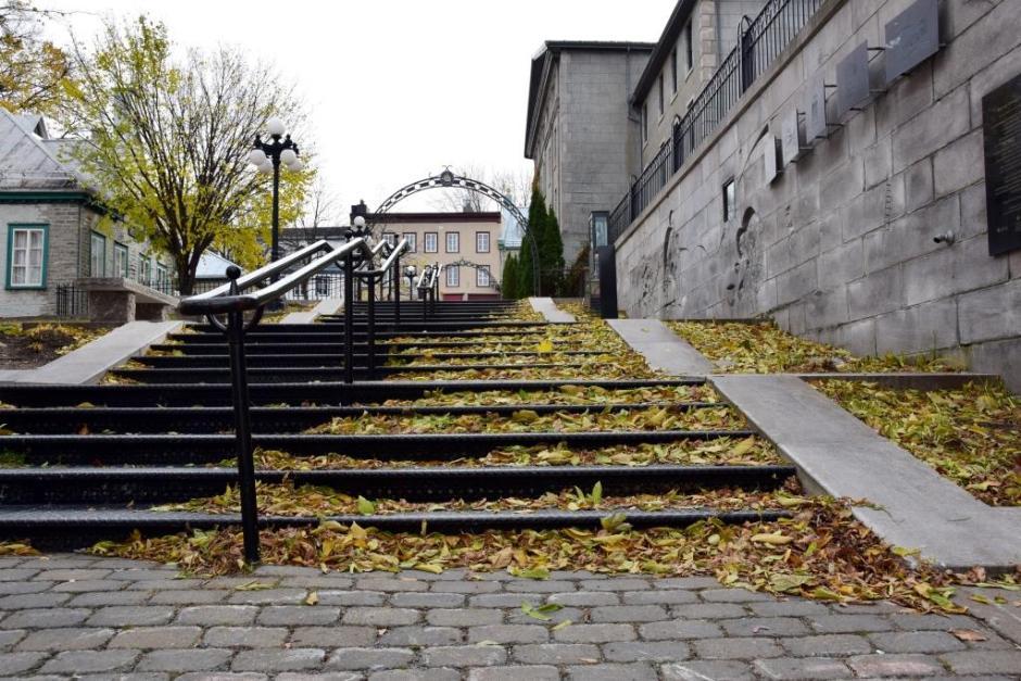 Escalier automnal