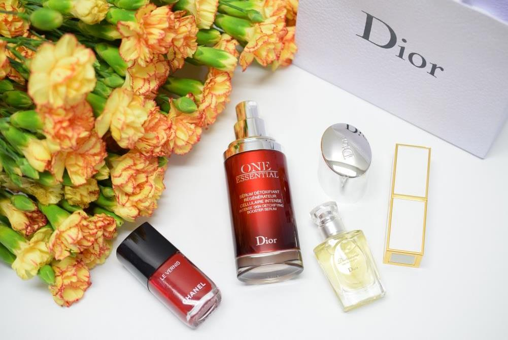 Dior skincare flatlay