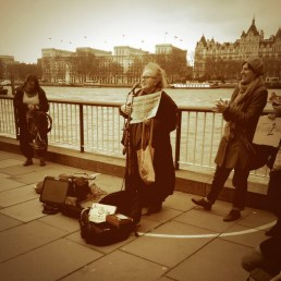 Ann Rossiter, prochoice activist, at a recent My Belly is Mine protest.