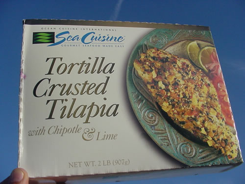 Tortilla Crusted Tilapia with Chipotle & Lime