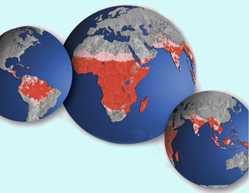 Mapa de Forte Ocorrencia de Malária